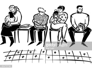 waiting room sketch