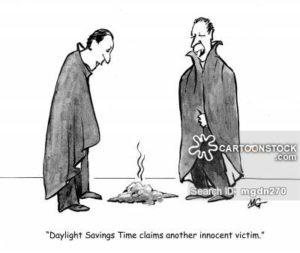 'Daylight Savings Time claims another victim.'